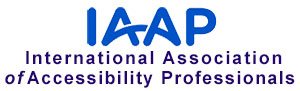 Logo for the International Association of Accessibility Professionals - IAAP